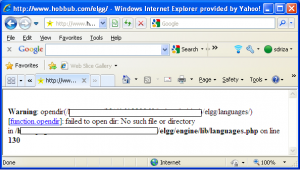 Elgg Installation Problem Files Not Fully Transferred