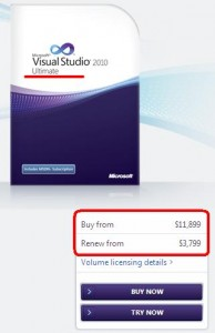 Visual Studio is Expensive